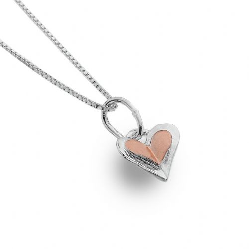 Heart Pendant Sterling Silver 925 Hallmark Rose Gold Necklace All Chain Lengths